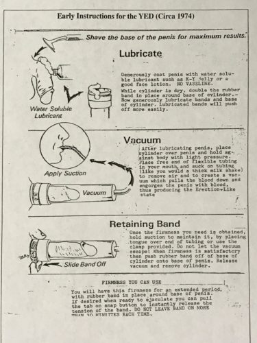 first vacuum erection device instructions